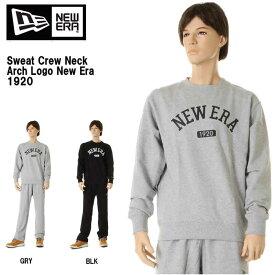 NEW ERA ニューエラ Sweat Crew Neck Arch Logo New Era 1920 グレー ブラック トップス トレーナー ロゴ【ニューエラ トレーナー 11321773 11321774 メンズ 無地 スウェット トレーナー ロゴ NEフラッグ コットン アパレル 新品】