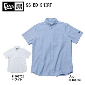 NEW ERA ニューエラ SS BD SHIRT 11403763 11403762 ボタンダウンシャツ ブルー ホワイト 半袖シャツ ウェア シャツ【NEWERA new era ニューエラ ボタンダウンシャツ 11403763 ブルー 11403762 ホワイト 新品】
