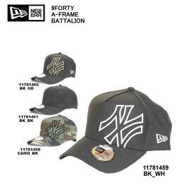 NEW ERA ニューエラ 11781458 11781459 11781460 11781461 BATTALION バタリオン 9FORTY A-FRAME ニューエラ キャップ メンズ 帽子