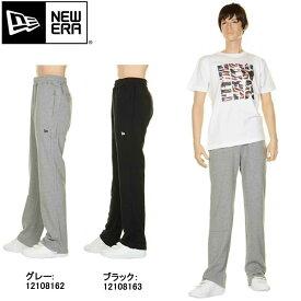 NEW ERA ニューエラ 12108162 12108163 スウェット パンツ グレー ブラック シンプル コットン sweat【NEWERA ニューエラ newera gray グレー black 黒 刺繍 ロゴ ニューエラロゴ sweat pants コットンパンツ ブランド ファッション メンズ 新品】