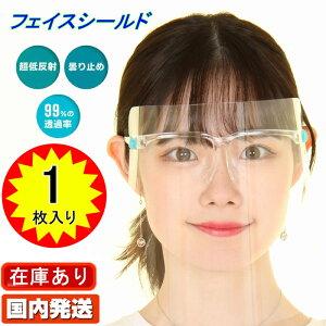 FACE SHIELD 透明マスク フェイスシールド 1個 眼鏡型 メガネ型 メガネタイプ おしゃれ メガネタイプ フルフェイス クリアシールド 保護シールド 透明 男女兼用 防護マスク ウィルス 感染防止