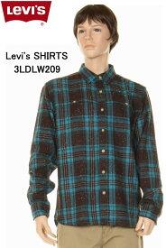 Levi's SHIRTS 3LDLW209 リーバイス シャツ ラディックウールミックスタータンチェックシャツ ブルー×ブラウン 長袖チェックシャツ【levisリーバイス ワークシャツ ロングシャツ チェックシャツ 長袖シャツ 3ldlw209 タータンチェック 新品】