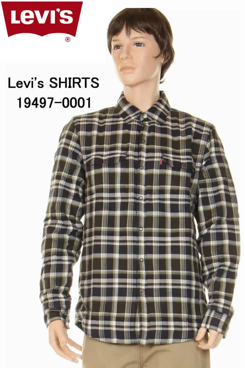 Levi's SHIRTS JACKET 19497-0001 ピュアコットンラティスジャケット グリーン リバーシブルジャケット シャツジャケット【levis リーバイス ピュア コットン ラティス リバーシブル リーバイスジャケット グリーン チェックジャケット 新品】
