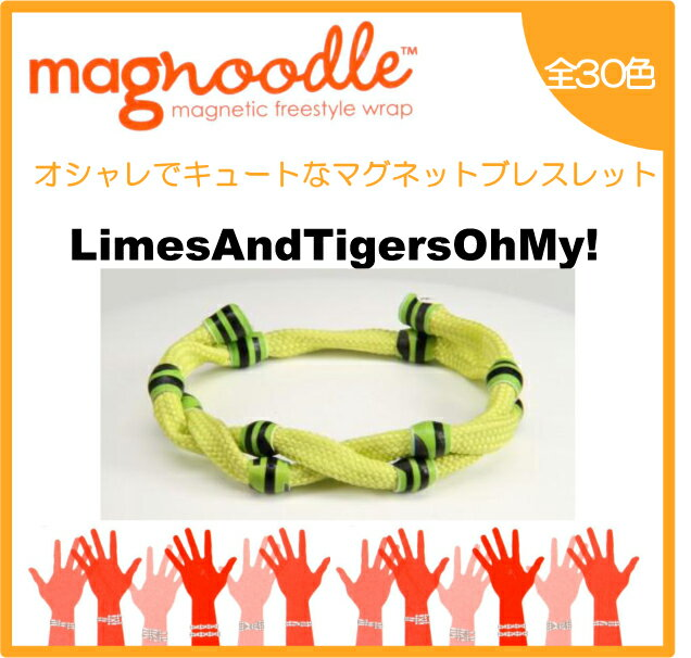 magnoodle ブレスレット Limes And Tigers Oh My! MAG-014 マグヌードル ブレスレット 【メール便送料無料】【3個で代引きOK】