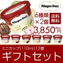 ハーゲンダッツ アイスクリーム ミニカップ(110ml) おすすめ12個 ギフト セット(簡易包装)