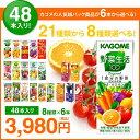 お中元 カゴメの野菜ジュース&エルビー果汁100%ジュース48本  21種類から8種類も選べる♪(8種類×6本) お礼 お返…