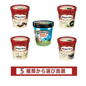 ハーゲンダッツとベン&ジェリーズ アイスクリーム パイント[業務用] 5種類から選べる福袋4個セット