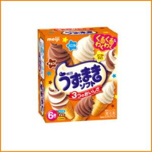 明治 うずまきソフト バニラ・チョコ・バニラ&チョコ (70ml×6本)×8個入り ss10