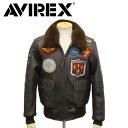 正規取扱店 AVIREX (アヴィレックス) 6181013 G-1 TOP GUN JACKET トップガン レザージャケット 055 BROWN