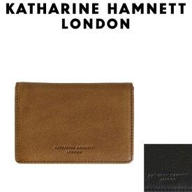 正規取扱店 KATHARINE HAMNETT LONDON (キャサリンハムネット ロンドン) 490-57001 Soft 名刺入れ 全2色