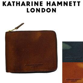 正規取扱店 KATHARINE HAMNETT LONDON (キャサリンハムネット ロンドン) 490-59209 FLUID ラウンドファスナー 札入れ 全3色