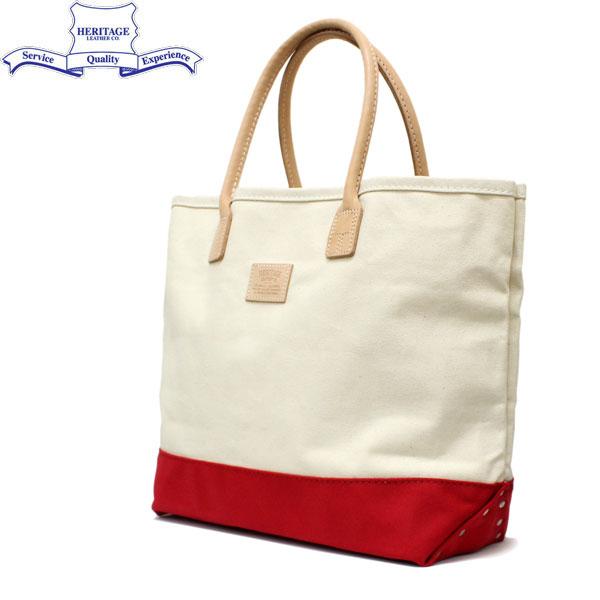 正規取扱店 HERITAGE LEATHER CO.(ヘリテージレザー) NO.7717 Tote Bag(トートバッグ) Natural/Red HL030