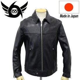 正規取扱店 666 LJM-9TF TIGHT FIT CENTER ZIP LEATHER JACKET (タイトフィット センタージップ レザージャケット) 日本製 BLACK