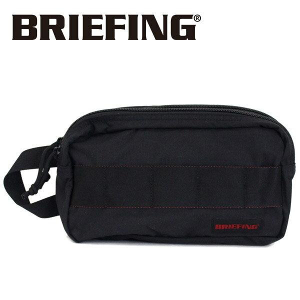 正規取扱店 BRIEFING (ブリーフィング) BRM181612 DOUBLE ZIP POUCH MW ダブルジップポーチ BLACK BR399