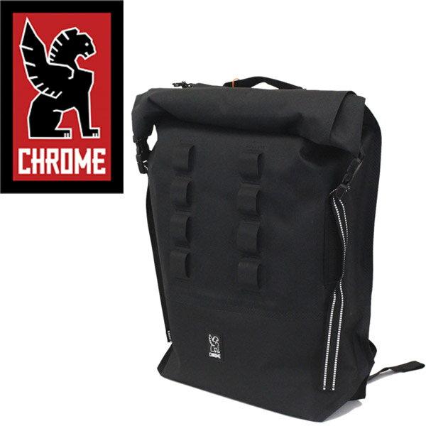 正規取扱店 CHROME (クローム クロム) BG218 URBAN EX ROLLTOP28V2 (アーバン ロールトップ バックパック デイバッグ) BLACK/BLACK CH102