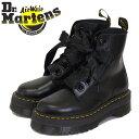 正規取扱店 Dr.Martens (ドクターマーチン) 24861001 WMS MOLLY モリー 6ホール レディース レザーブーツ 厚底 BLACK