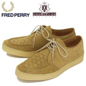 正規取扱店 FRED PERRY (フレッドペリー) x GEORGE COX (ジョージコックス) Wネーム B1910-H75 POP BOY SUEDE スウェードレースアップシューズ LIGHT GINGER FP328