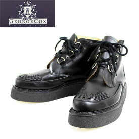 正規取扱店 George Cox(ジョージコックス) 13327 VI Sole CHUKKA チャッカ Black Leather ブラックレザー