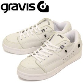 正規取扱店 gravis (グラビス) TARMAC DLX ターマック DLX ローカットスニーカー WHITE/BLACK GRV002