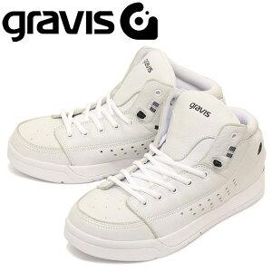 正規取扱店 gravis (グラビス) TARMAC HC DLX ターマック HC DLX ハイカットスニーカー WHITE/BLACK GRV004