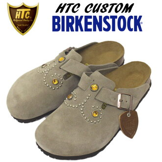 Shipping & cash on delivery fee free regular manual HTC x BIRKENSTOCK (Bilkent stock) Boston Boston シルバースタッズ x Anvers tone taupe suede fs3gm