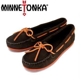常規處理商店售售迷妮唐卡 (Minnetonka) 麂皮絨船 Moc (serdboatmock) #328 X 巧克力女士 MT273