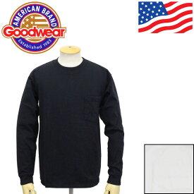 正規取扱店 Goodwear (グッドウェア) RGL モックネック 長袖CREW-W ポケットTシャツ 全2色 GDW005
