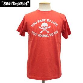 正規取扱店 SEDITIONARIES by 666 (セディショナリーズ) Too Fast To Live Tシャツ レッドxシルバーラメ STO002