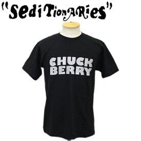 正規取扱店 SEDITIONARIES by 666 (セディショナリーズ) CHUCK BERRRY (チャックベリー) Tシャツ ブラックxシルバーラメ STO082