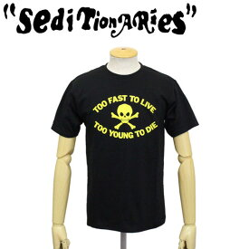 正規取扱店 SEDITIONARIES by 666 (セディショナリーズ) TOO FAST TO LIVE TOO YOUNG TO DIE Tシャツ ブラックxイエロー STO0001