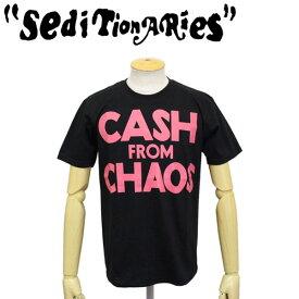 正規取扱店 SEDITIONARIES by 666 (セディショナリーズ) CASH FROM CHAOS Tシャツ ブラックxピンクSTO0010