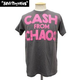 正規取扱店 SEDITIONARIES by 666 (セディショナリーズ) CASH FROM CHAOS Tシャツ チャコール STO103