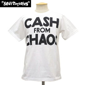 正規取扱店 SEDITIONARIES by 666 (セディショナリーズ) CASH FROM CHAOS Tシャツ ホワイト STO104