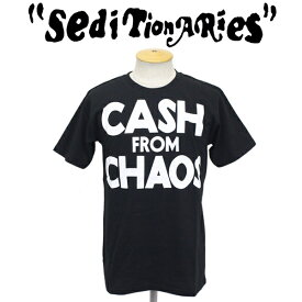 正規取扱店 SEDITIONARIES by 666 (セディショナリーズ) CASH FROM CHAOS Tシャツ ブラックxホワイト STO0010