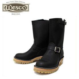 正規取扱店 正規ディーラー Wescoウエスコ Boss ボス Black Leather, 10height, #100HoneySole, Nickel Buckles BS76