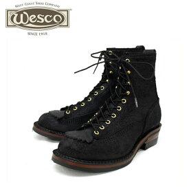 正規取扱店 Wescoウエスコ Jobmasterジョブマスター Black Rough Out,Lace to Toe,8height,#430 Sole,Boss Toe JM52