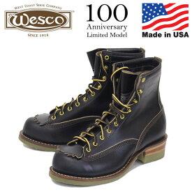 正規取扱店 限定 WESCO (ウエスコ) 100th Anniversary Model 38LTT Horsehide Jobmaster ホースハイド ジョブマスター ブーツ BLACK JM59