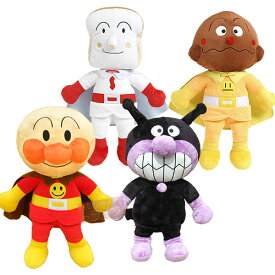それいけ!アンパンマン ぬいぐるみ 抱き人形 4体組 Aセット アンパンマン ばいきんまん カレーパンマン しょくぱんまん
