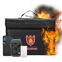耐火 袋 耐火バッグ 38cm x 28cm x 7.5cm セーフティーバッグ ショルダー付き 手提げ リポバッテリー袋 lipoバッテリ…