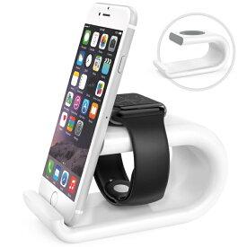 送料無料 Apple Watch & iPhoneスタンド - ATiC Apple Watch [38mm & 42mm]&iPhone 6s/6s Plus/6/6 Plus/5/5Sに対応 アクリル製 TPU接触面 アップルウォッチ&スマホ両用 充電スタンド/充電クレードルドック/チャージャースタンド