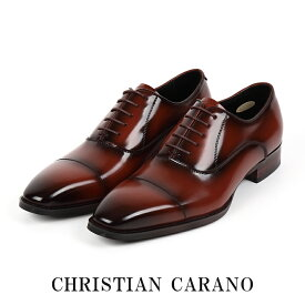 日本製 本革 キングサイズ 4E 内羽根 ストレートチップメンズ ビジネスシューズ 大きいサイズ 30.0 31.0cm 撥水加工 手染めカラー 紳士靴 Christian Carano - クリスチャンカラノ TK-490k 父の日