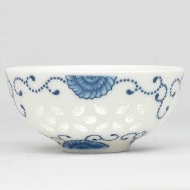玲瓏半花茶杯 中国彩磁品茗杯