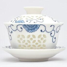 玲瓏半花蓋碗 120ml 中国茶器