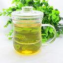 中国茶器・美体杯300ml(耐熱ガラス 茶漉し付マグカップ)