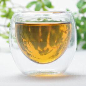 双層杯高 80ml(満水105ml)(耐熱ガラス ティーカップ 茶杯)