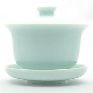青磁の中国茶器・圓満蓋碗(弟窯粉青)170ml(満水210ml)