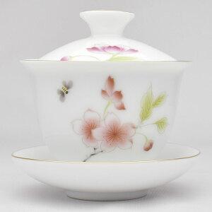 描金蓋碗(蝶恋花)中国彩磁