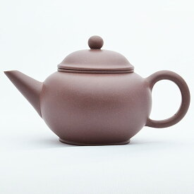 宜興紫砂壺・水平壺 丁涛(濃紫茶)190ml