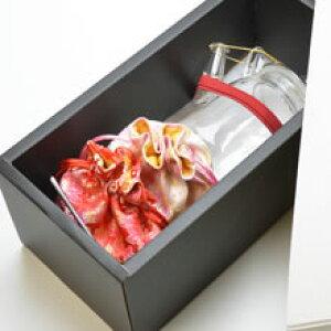 中国茶器セット・ガラス茶器(茶壺/急須)と花の工芸茶3種×2個【楽ギフ_のし宛書】