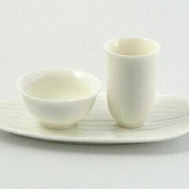 白磁の中国茶器・茶杯(品茗杯と聞香杯)、茶托三点セット 杯20ml